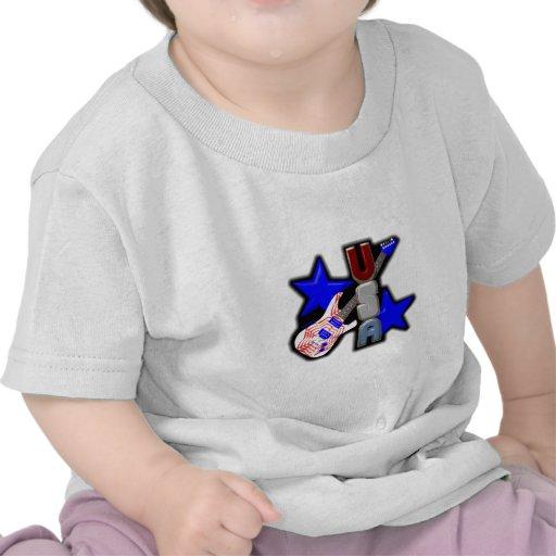GUITARRA de ValxArt los E.E.U.U. Camisetas