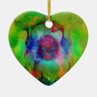 Guitarra Ornamento Para Arbol De Navidad