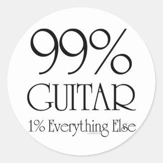 Guitarra del 99% pegatina redonda