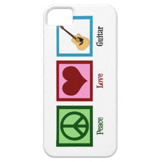Guitarra del amor de la paz iPhone 5 carcasa