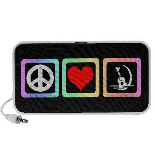 guitarra del amor de la paz laptop altavoces