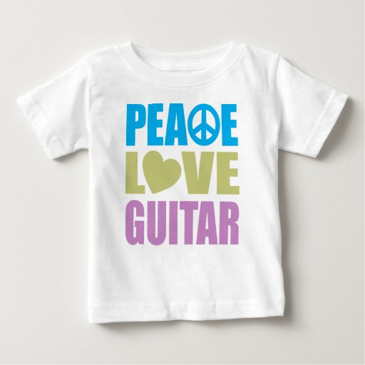 Guitarra del amor de la paz t shirts