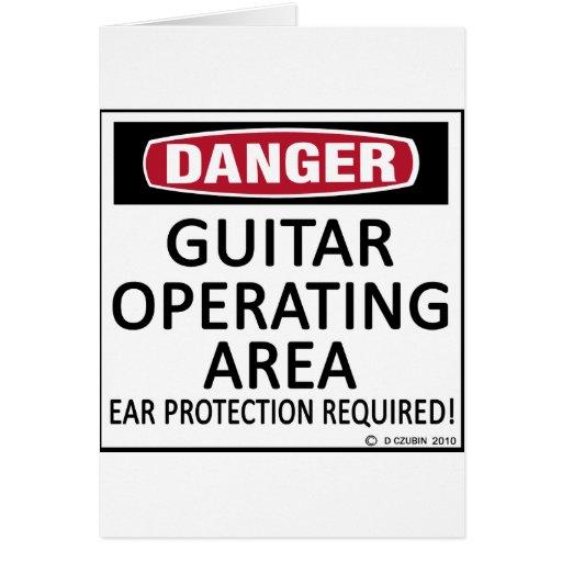 Guitarra del área de funcionamiento tarjeta de felicitación