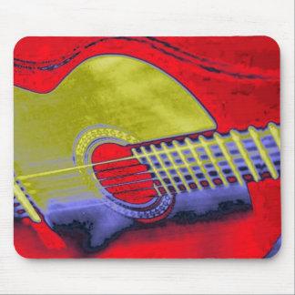 Guitarra del arte pop alfombrilla de ratones
