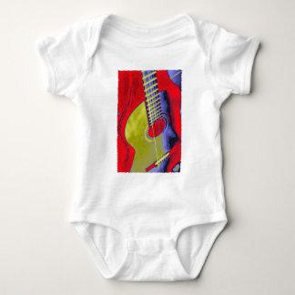 Guitarra del arte pop body para bebé