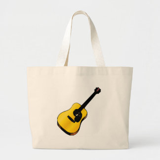 Guitarra del arte pop bolsa tela grande
