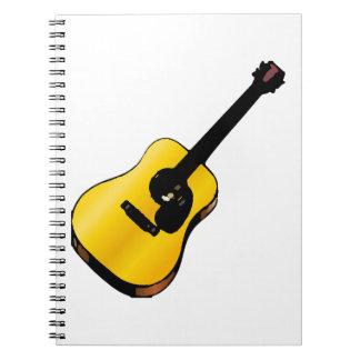 Guitarra del arte pop cuadernos