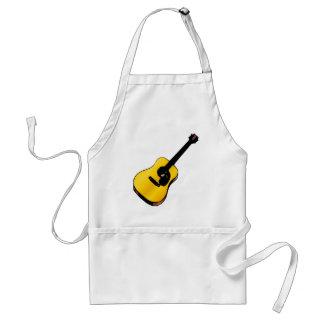 Guitarra del arte pop delantal