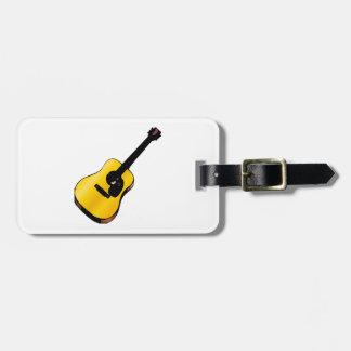 Guitarra del arte pop etiquetas para maletas