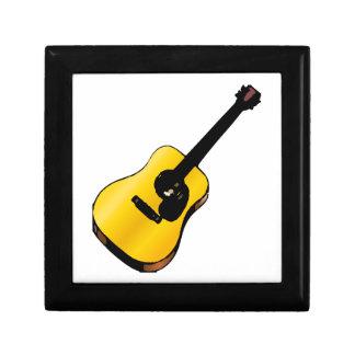 Guitarra del arte pop joyero cuadrado pequeño