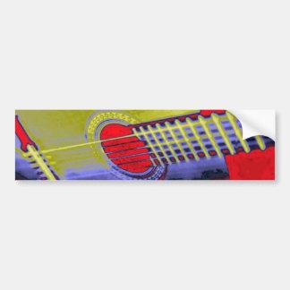 Guitarra del arte pop pegatina para auto