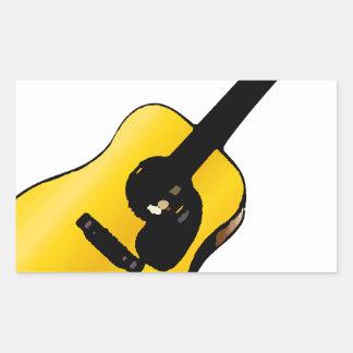 Guitarra del arte pop pegatina rectangular