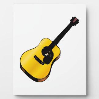 Guitarra del arte pop placa