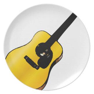 Guitarra del arte pop platos