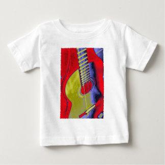 Guitarra del arte pop poleras