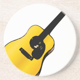Guitarra del arte pop posavaso para bebida
