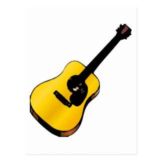 Guitarra del arte pop postal