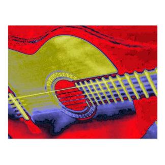 Guitarra del arte pop postales