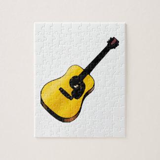 Guitarra del arte pop puzzle