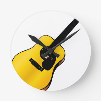 Guitarra del arte pop reloj redondo mediano