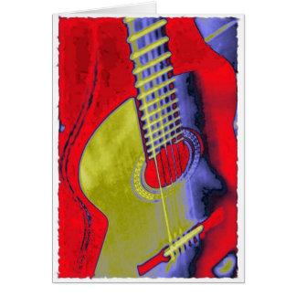 Guitarra del arte pop tarjeta de felicitación