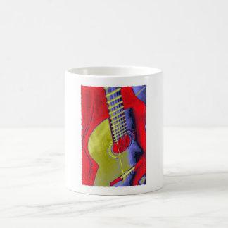 Guitarra del arte pop taza