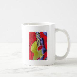 Guitarra del arte pop taza de café