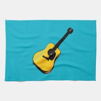 Guitarra del arte pop toallas