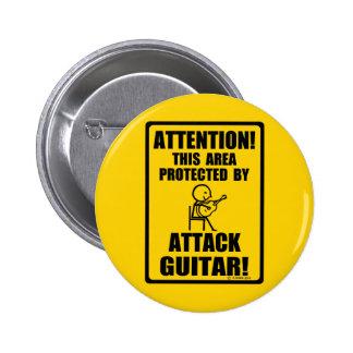 Guitarra del ataque pin