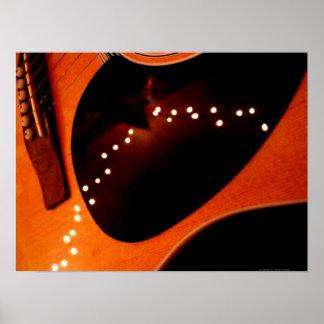 Guitarra del centelleo póster
