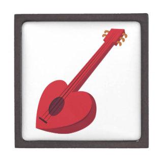 Guitarra del corazón caja de recuerdo de calidad