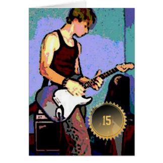 Guitarra del cumpleaños de Nate Tarjeta De Felicitación