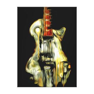 Guitarra del extracto del arte de Seghetti Impresiones En Lona