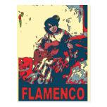 Guitarra del flamenco tarjetas postales