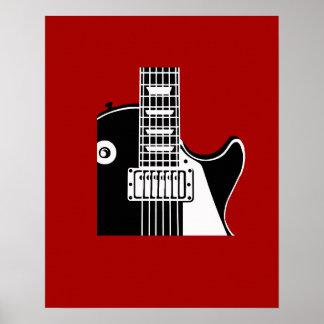 Guitarra del instrumento de música - músicos posters