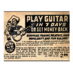 """""""Guitarra del juego en postal de 7 días"""""""