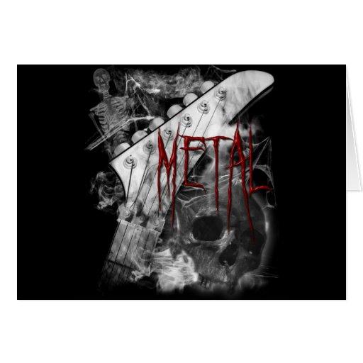 Guitarra del metal de la muerte tarjetón