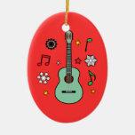 Guitarra del navidad ornatos