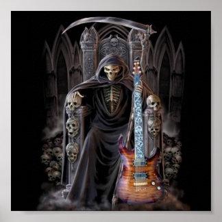 Guitarra del parca en infierno póster