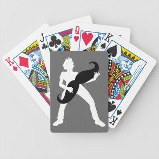 Guitarra del pelo barajas de cartas
