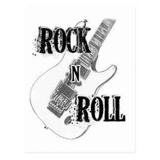 guitarra del rollo de la roca n postal
