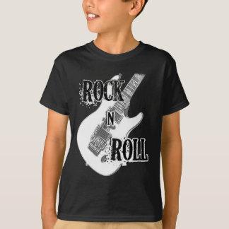 guitarra del rollo de la roca n remera