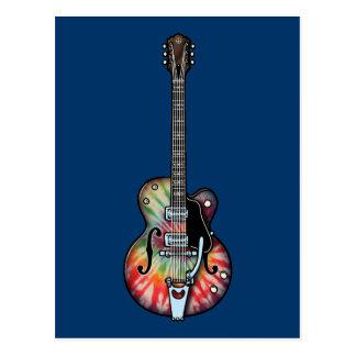 Guitarra del teñido anudado postales