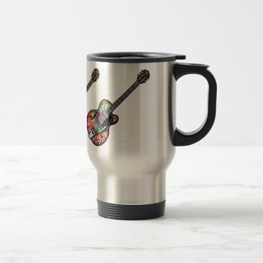 Guitarra del teñido anudado tazas de café