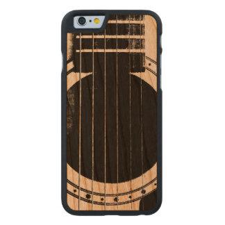 Guitarra del vintage funda de iPhone 6 carved® de cerezo