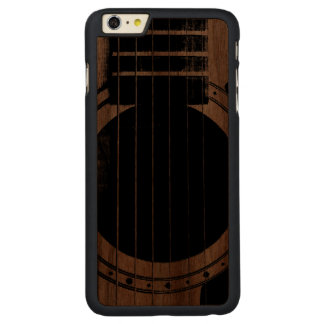 Guitarra del vintage funda de nogal carved® para iPhone 6 plus