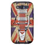 Guitarra desigual del vintage de Union Jack Galaxy S3 Carcasa