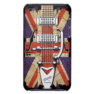 Guitarra desigual del vintage de Union Jack iPod Case-Mate Protectores