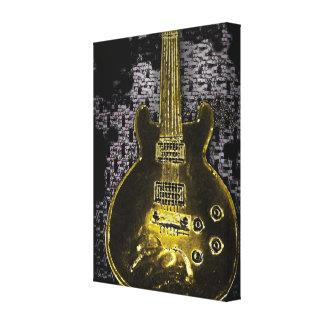 Guitarra dorada, diseño de las ilustraciones origi lona envuelta para galerías