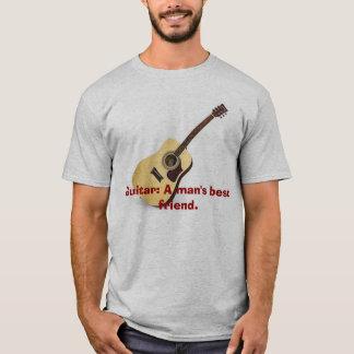 Guitarra: El mejor amigo de un hombre Playera